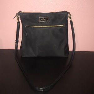 Kate spade crossbody or shoulder bag black & gold